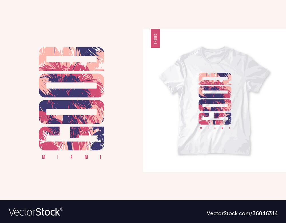 Miami graphic tee design typography print
