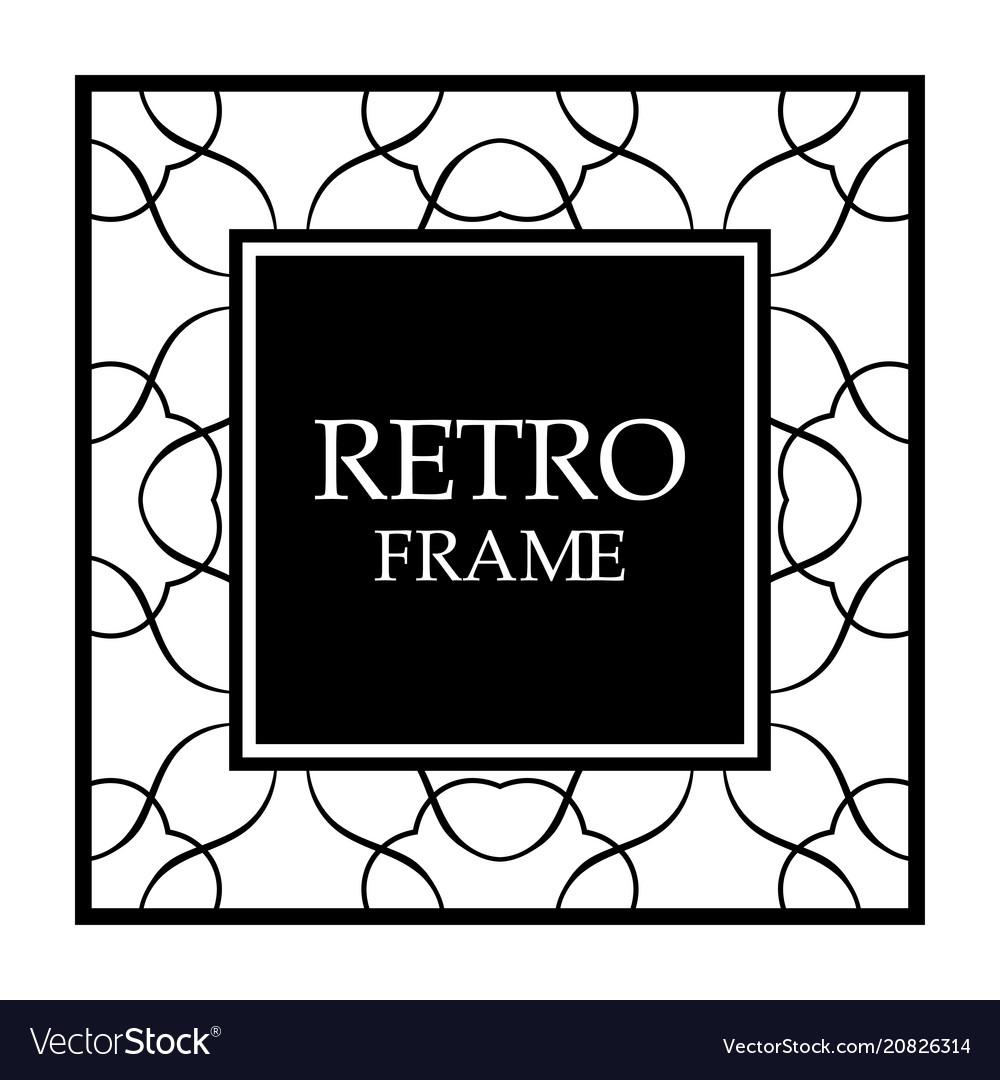 Vintage border frame