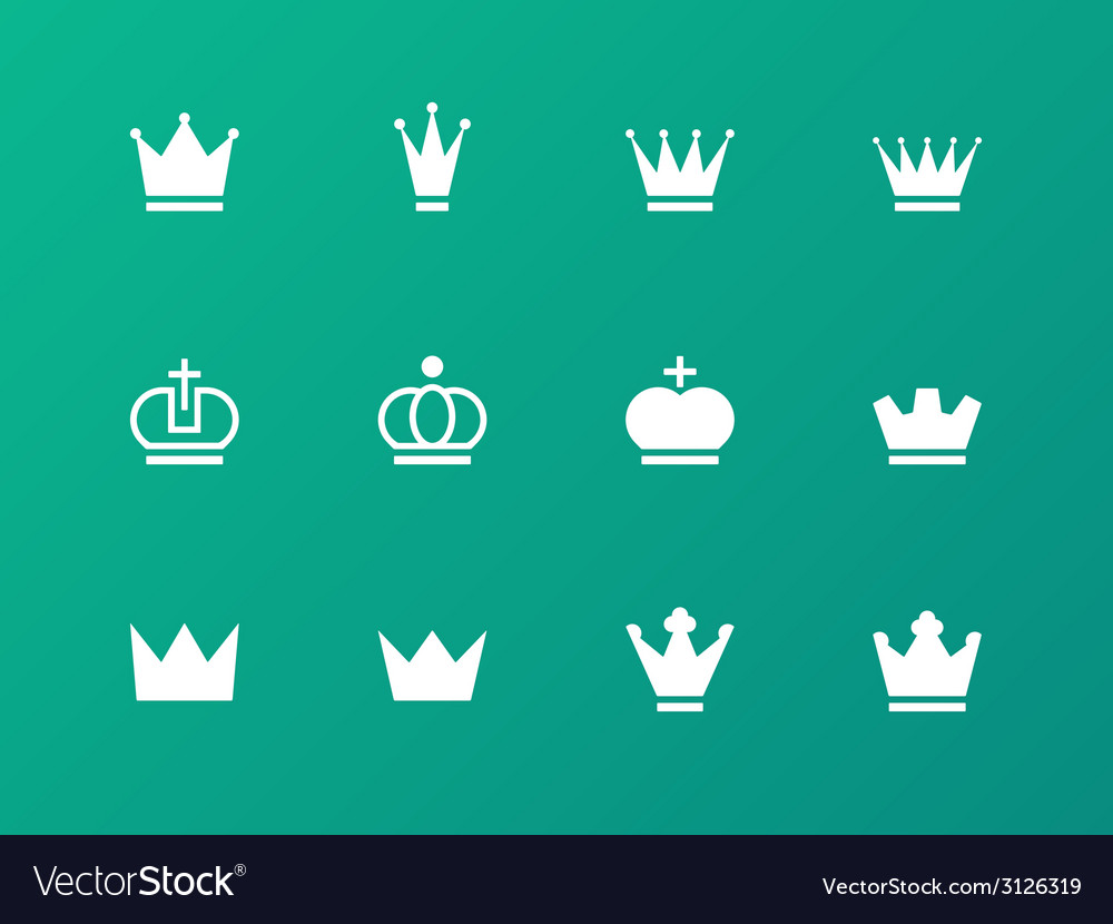 Crown icons on green background
