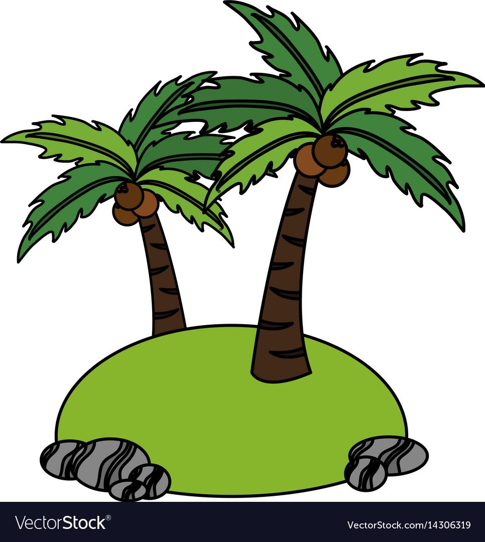 Isolated island icon image