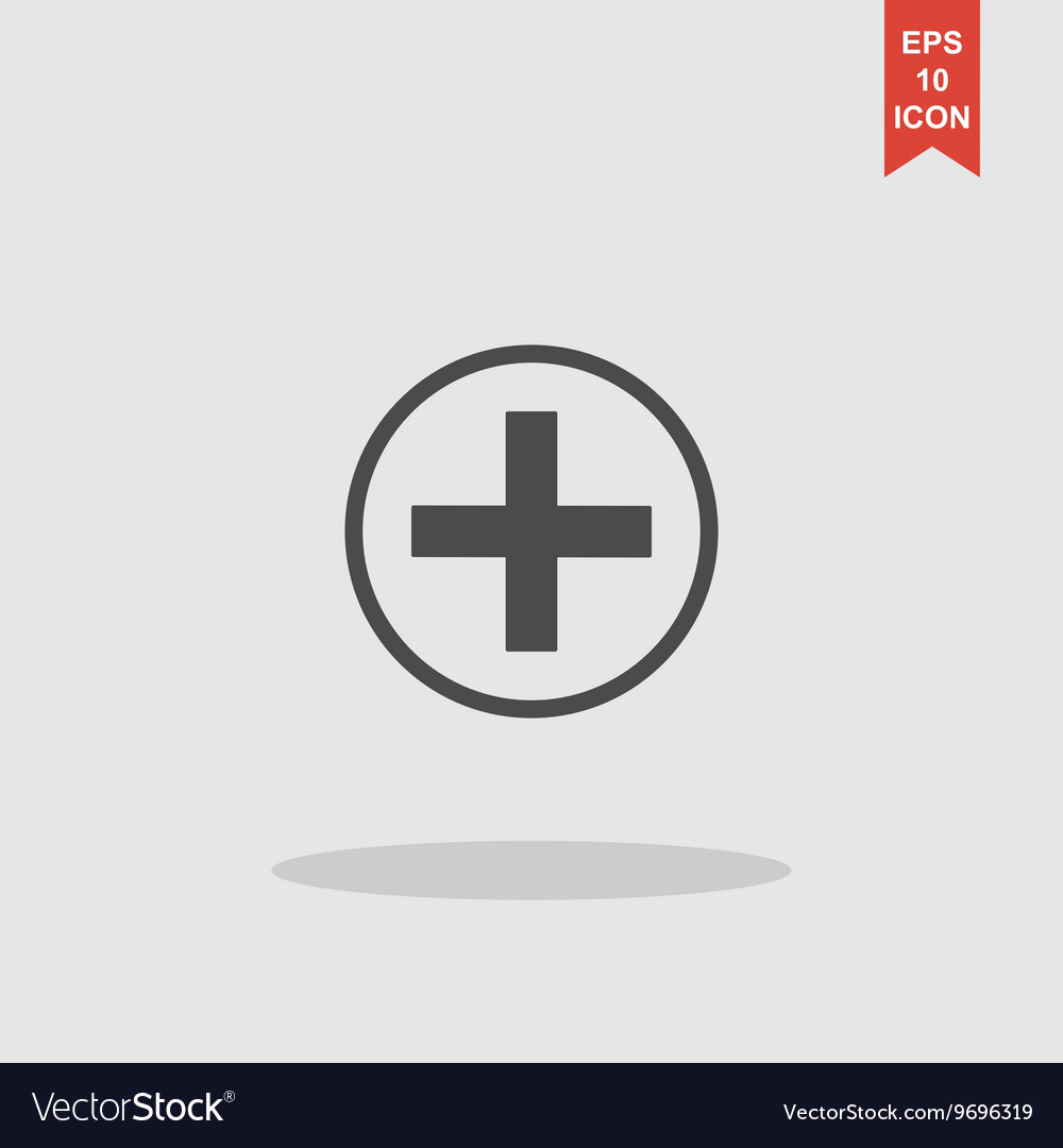 Medical sign in glossy button vector image