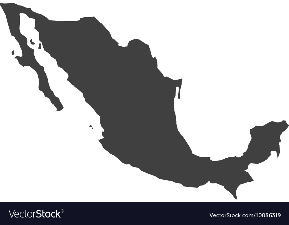 Mexico map geography icon Royalty Free Vector Image