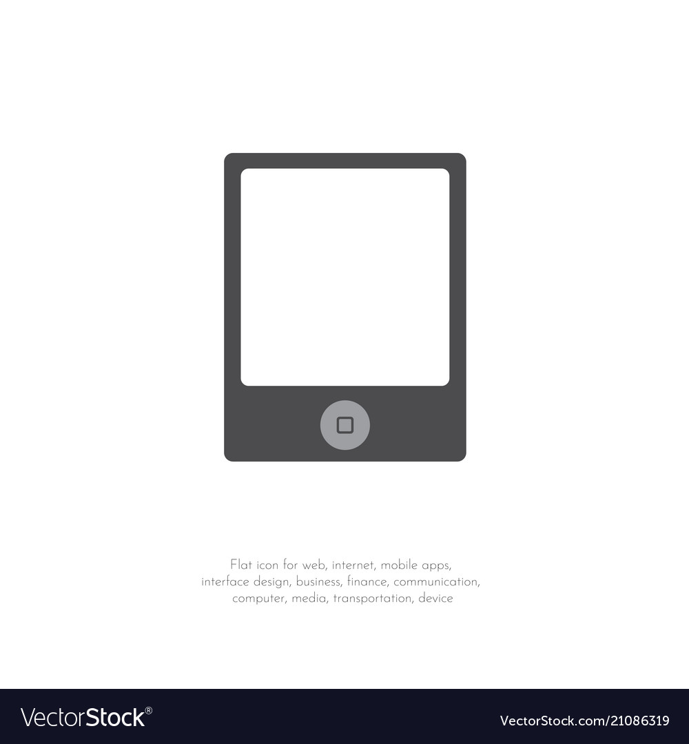 Tablet icon flat design style 111