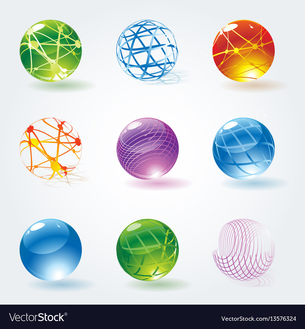 Abstract 3d glossy spheres