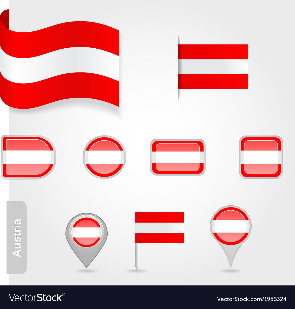 Austria flag icon set
