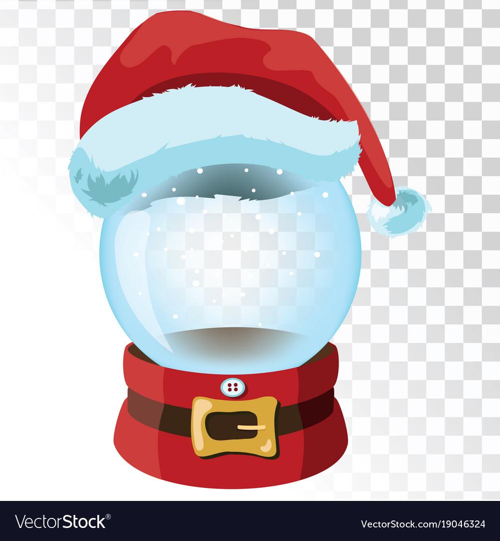 Christmas glass magic ball with santa hat