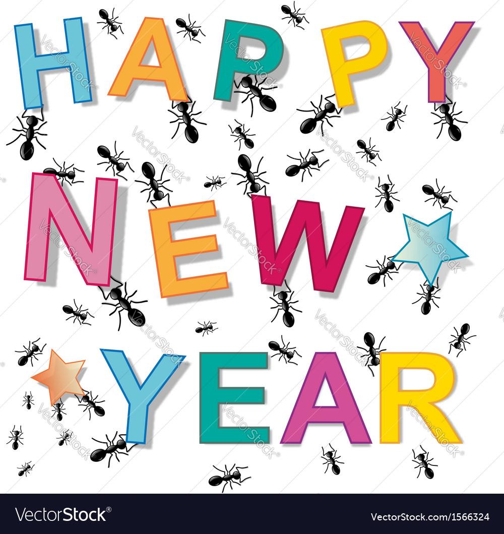 Happy new year ant