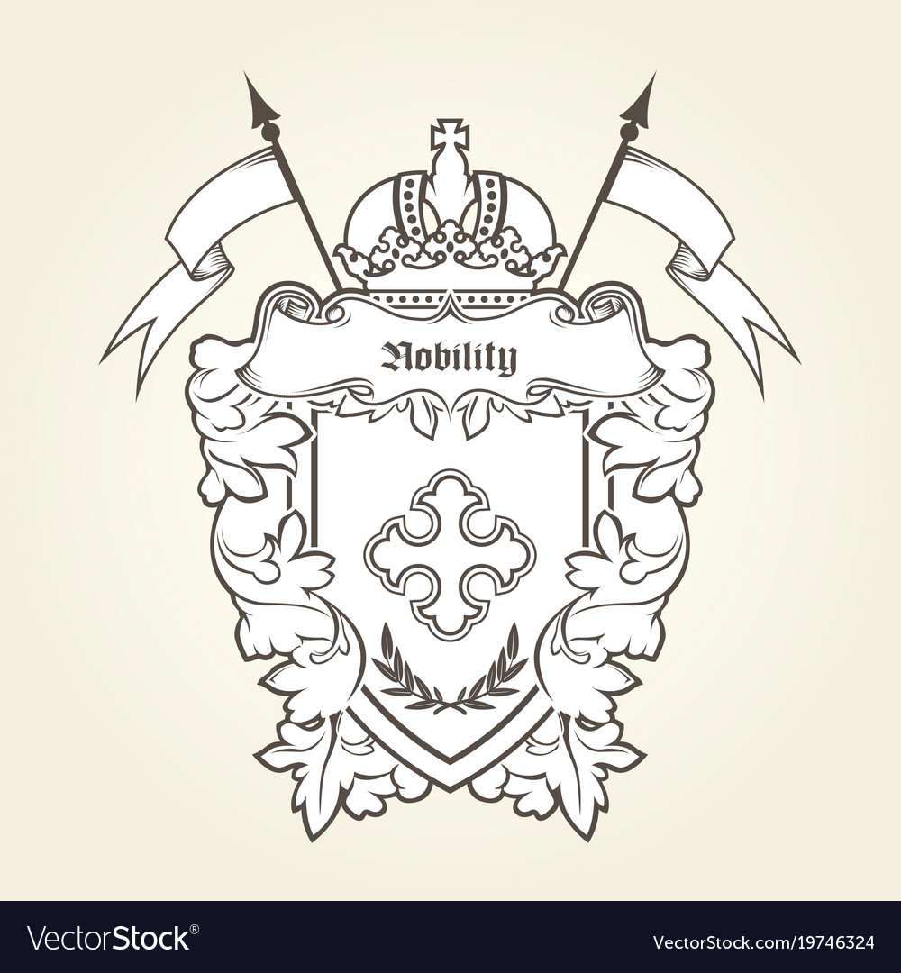 Heraldic emblem - royal coat arms