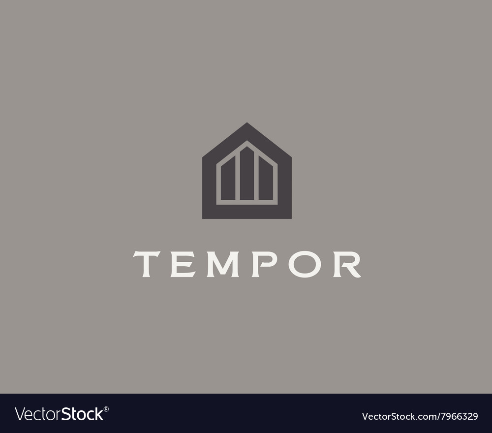 Abstract house logo design template Premium real