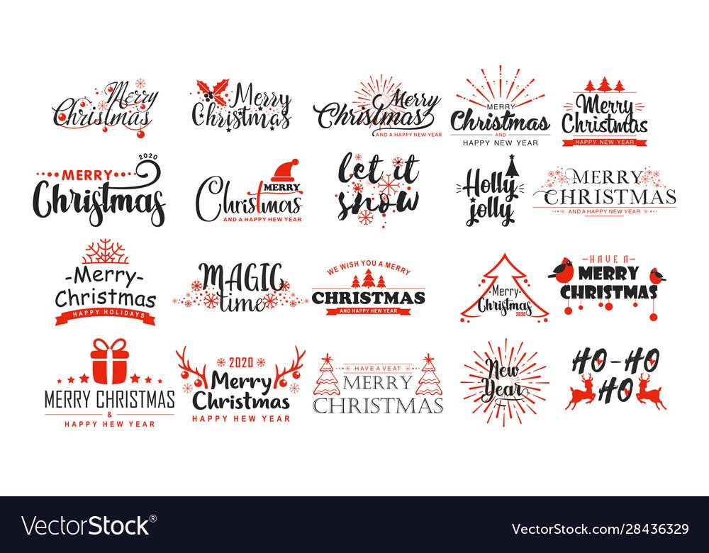 Christmas wishes flat stickers set xmas