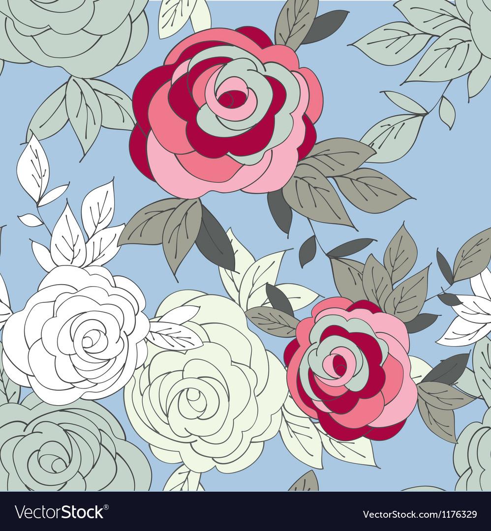 Pink peony flower seamless pattern