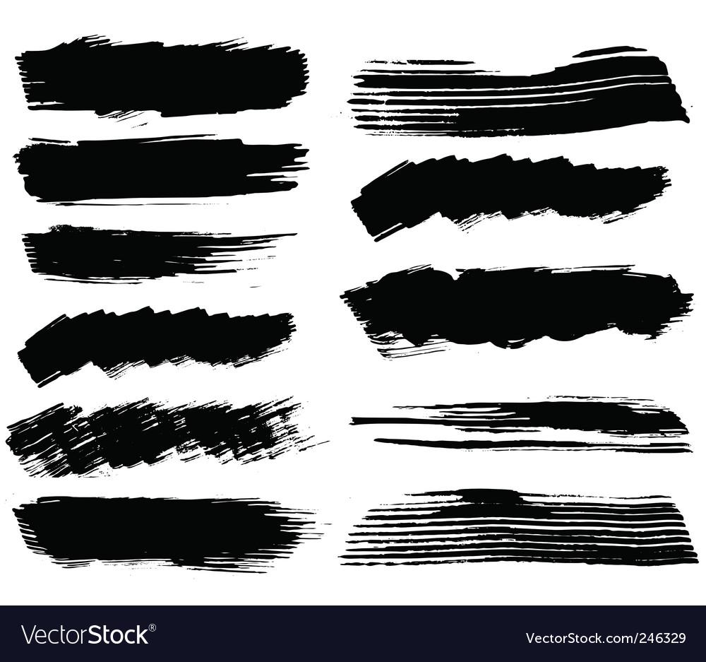 Set of blots vector image