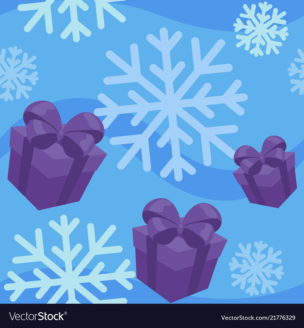 Winter giftes seamless pattern