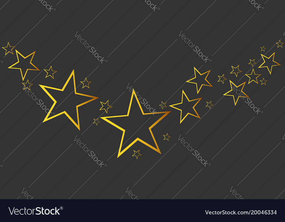 Abstract falling star with golden christmas