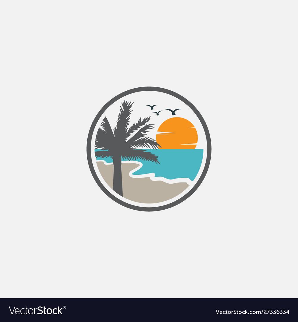 Beach graphic design template logo