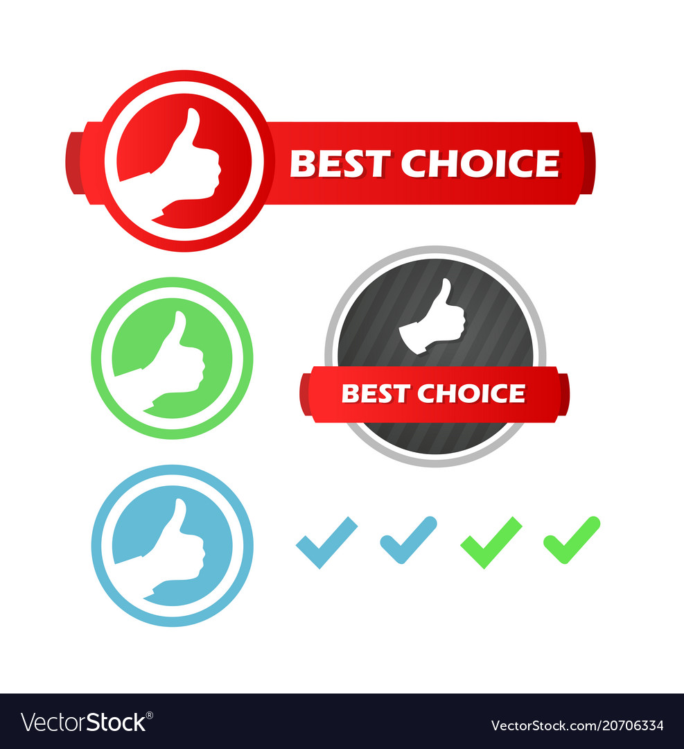 Best choice set of icons
