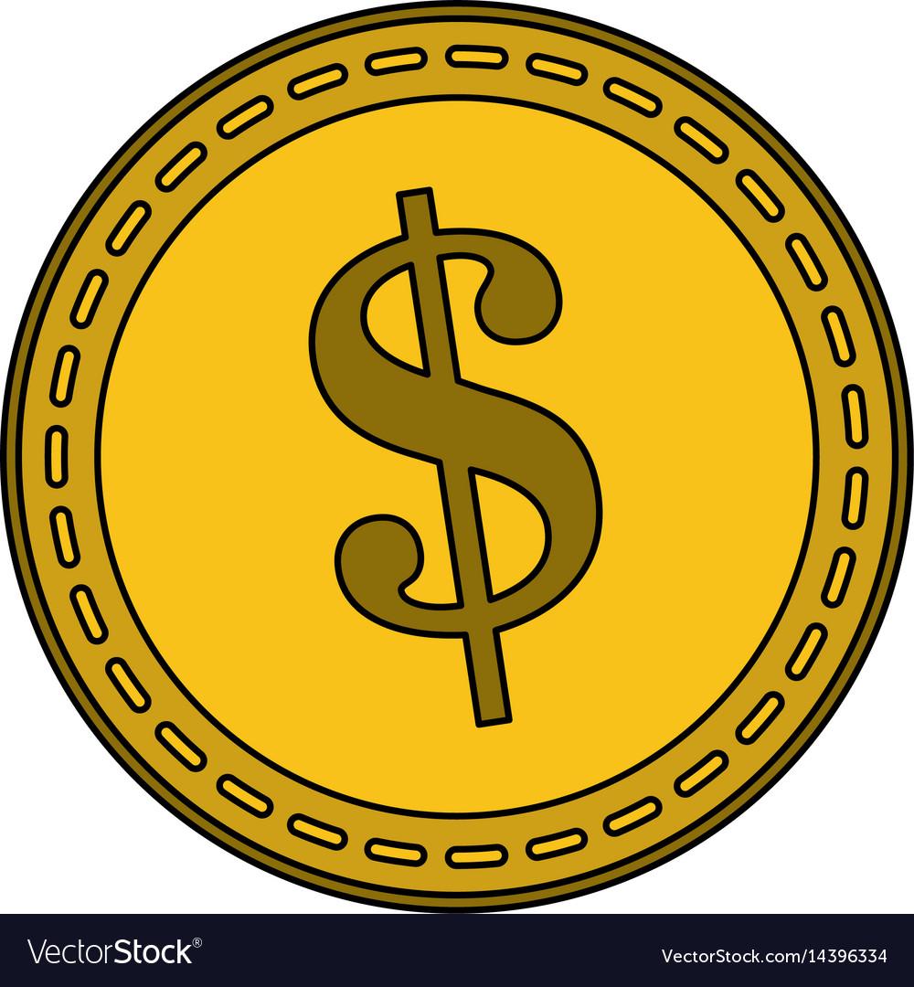 Dollar coin icon image