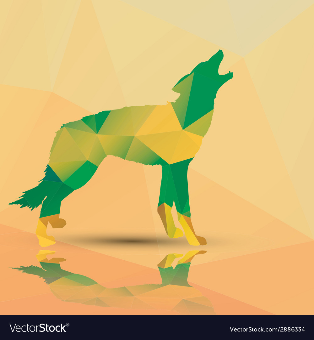 Geometric polygonal wolf pattern design