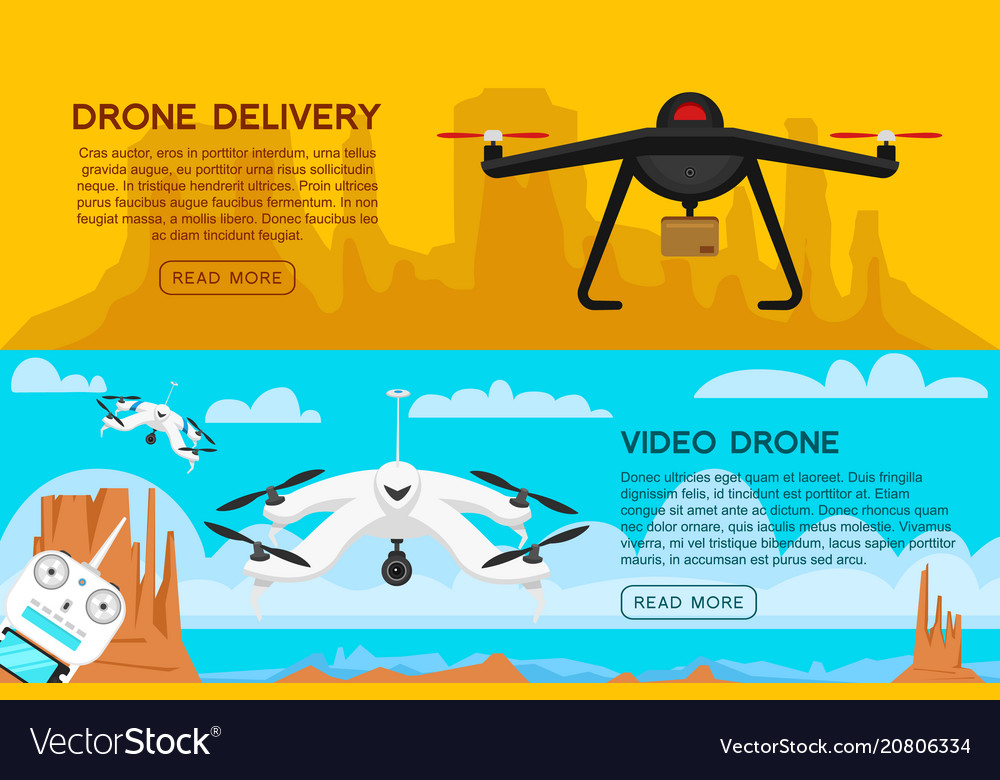 Modern air drones for card and remote control
