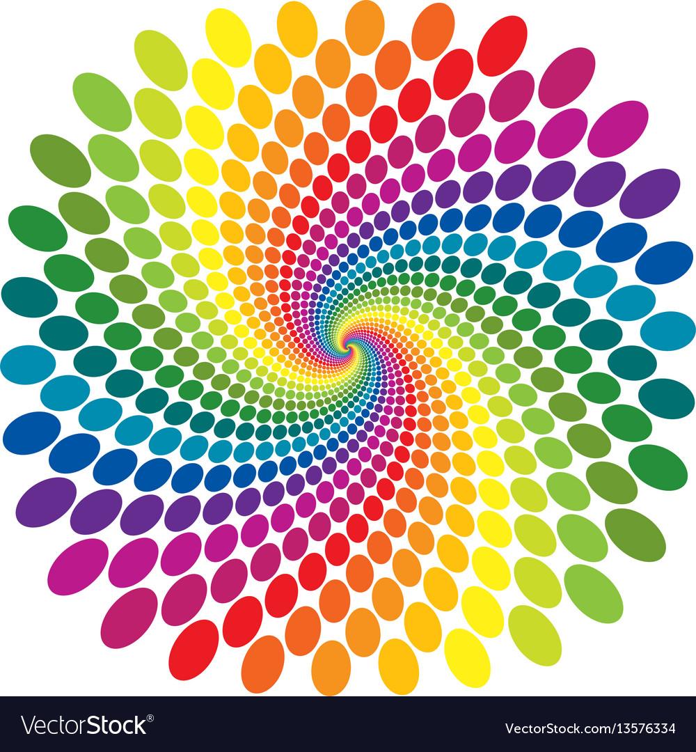 Rainbow swirl abstract