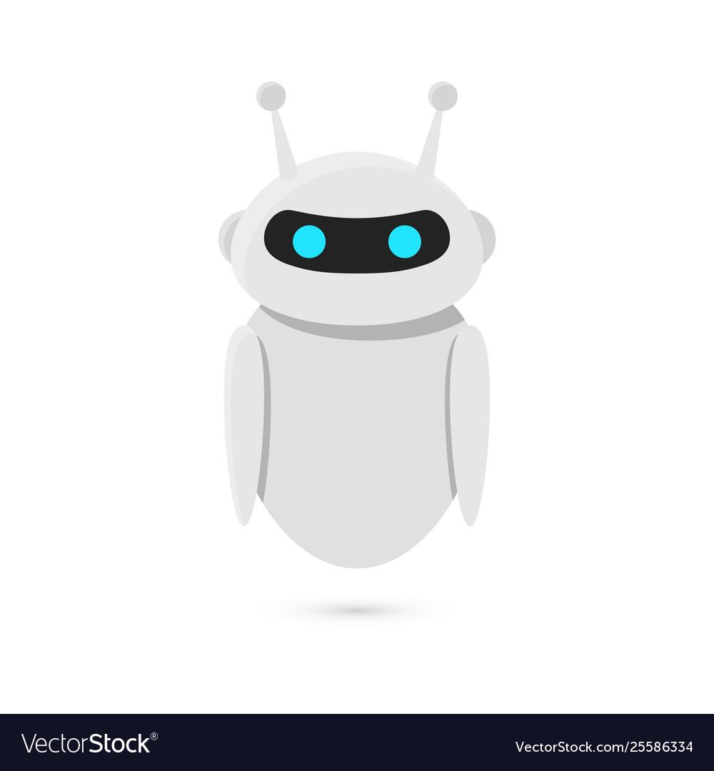 Robot isolated on white background bot design