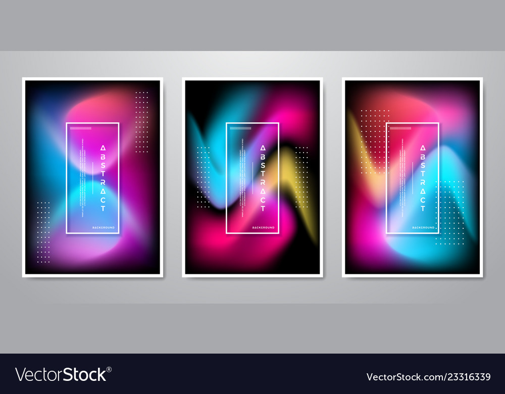 Abstract trendy gradient shapes background