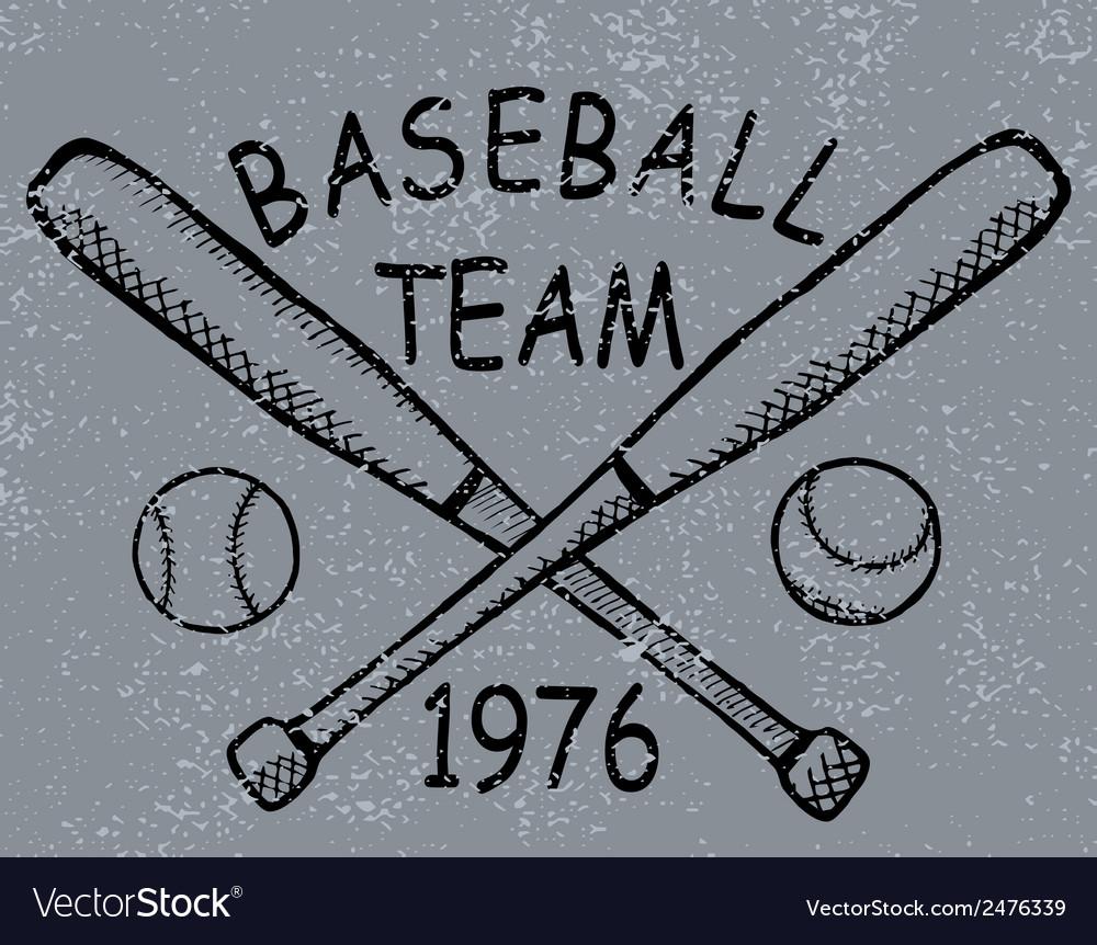 Grunge baseball design t-shirt Printing