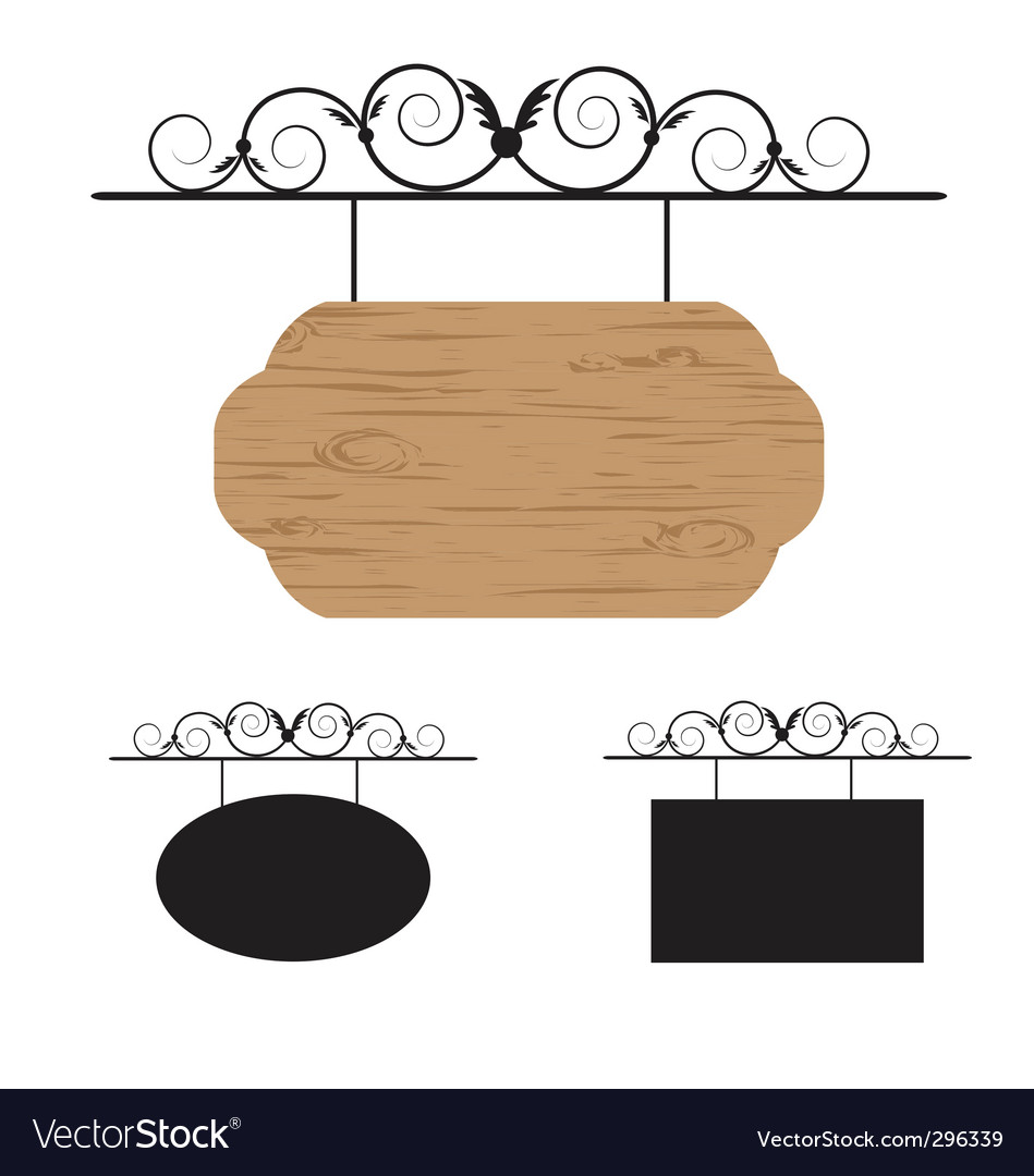 Hanging signs vector image