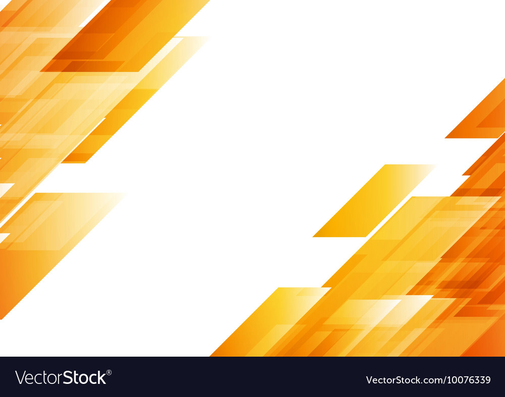 Hi Tech Orange Shapes Abstract Background