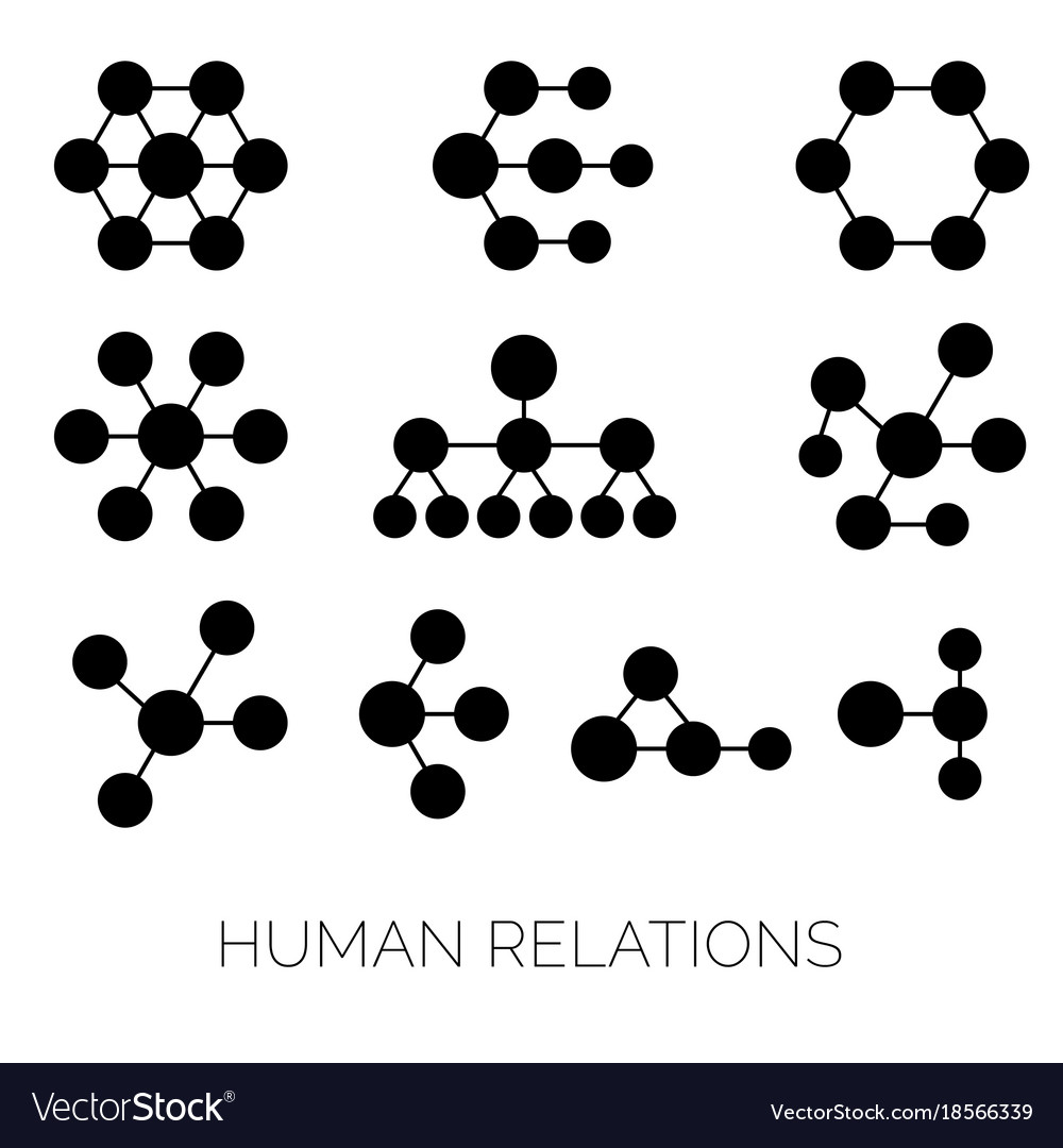 Human relations simple charts hierarchy