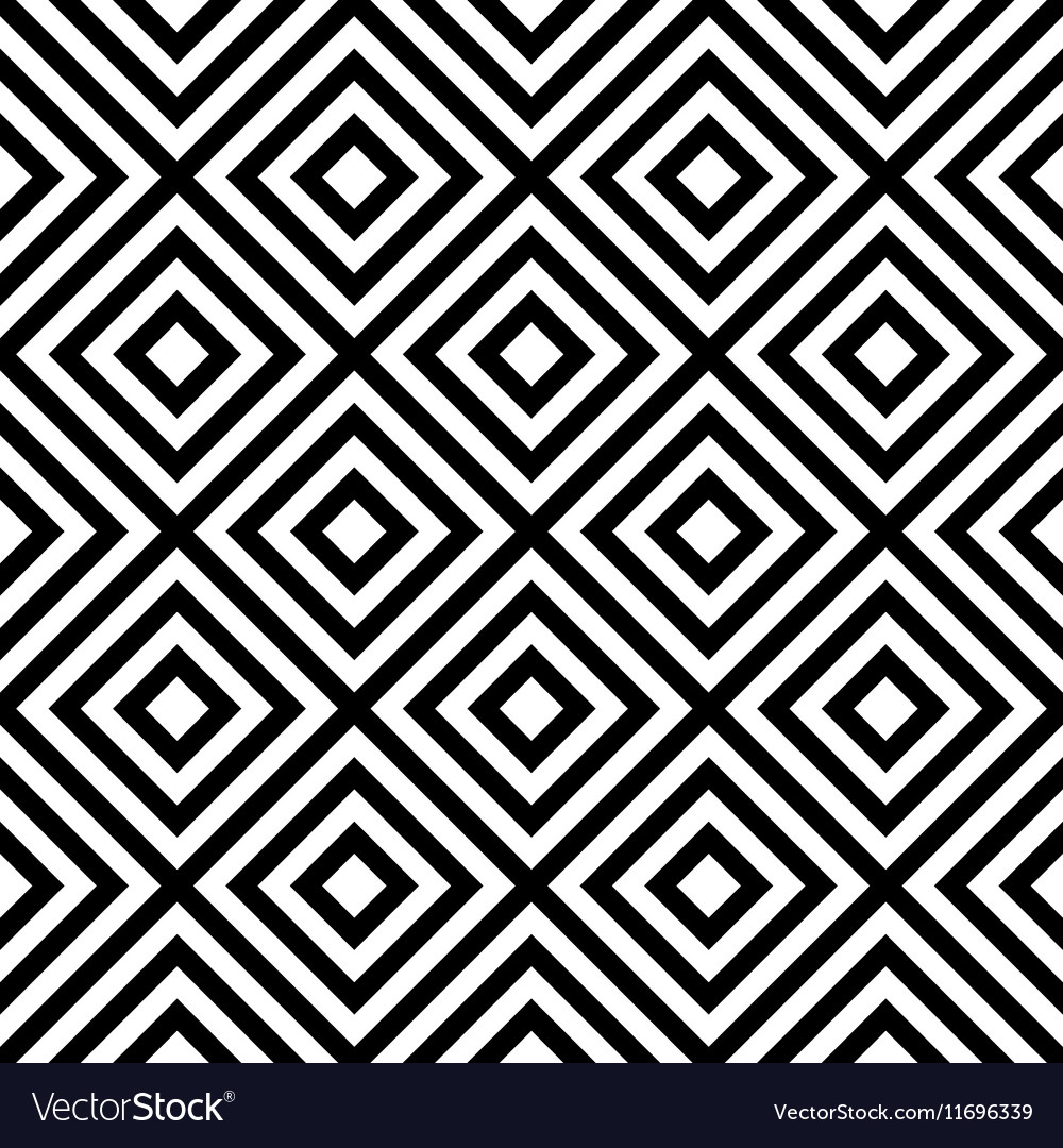 Rhombus seamless pattern in black and white