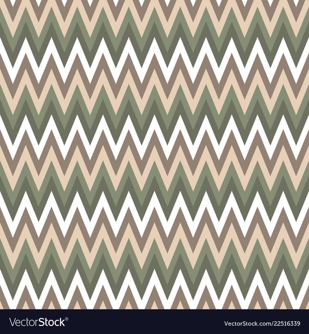Seamless chevron pattern cute green and brawn
