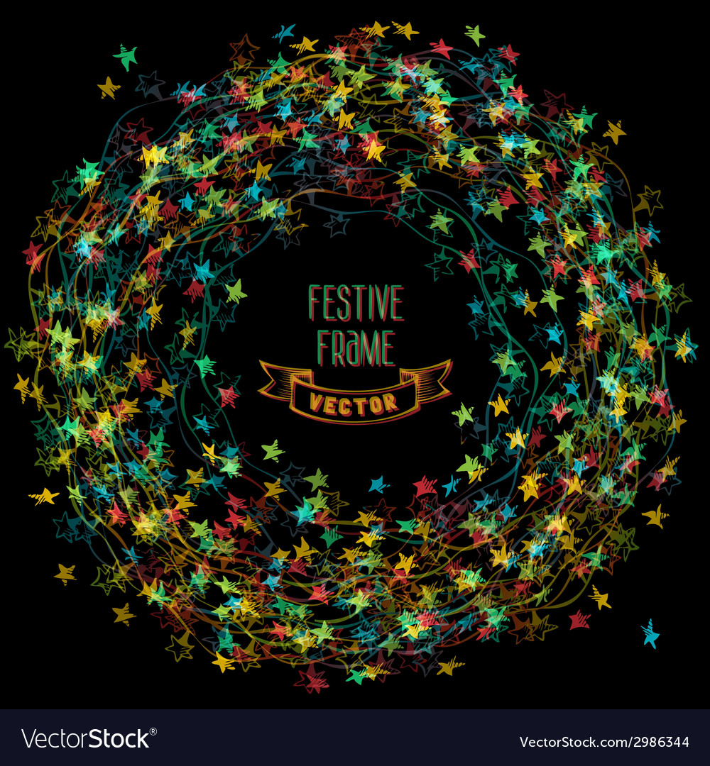 colourful frame of christmas lights vector image - Christmas Lights Frame