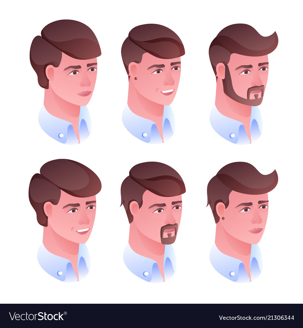 Man head hairstyle