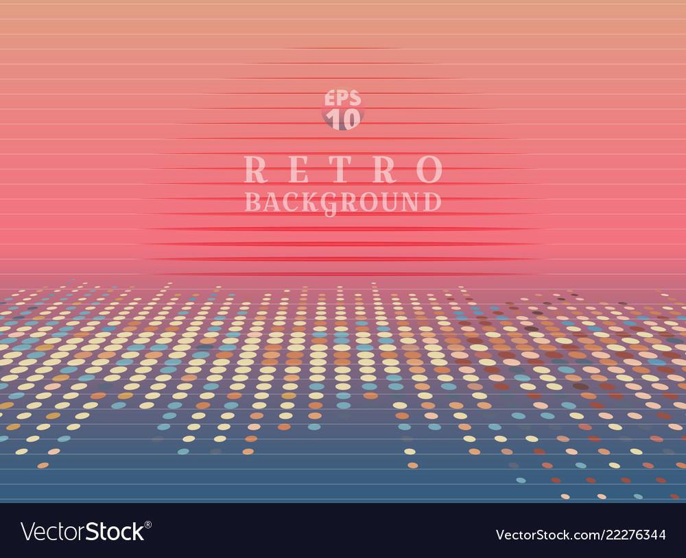 Sci fi futuristic abstract 80s retro neon