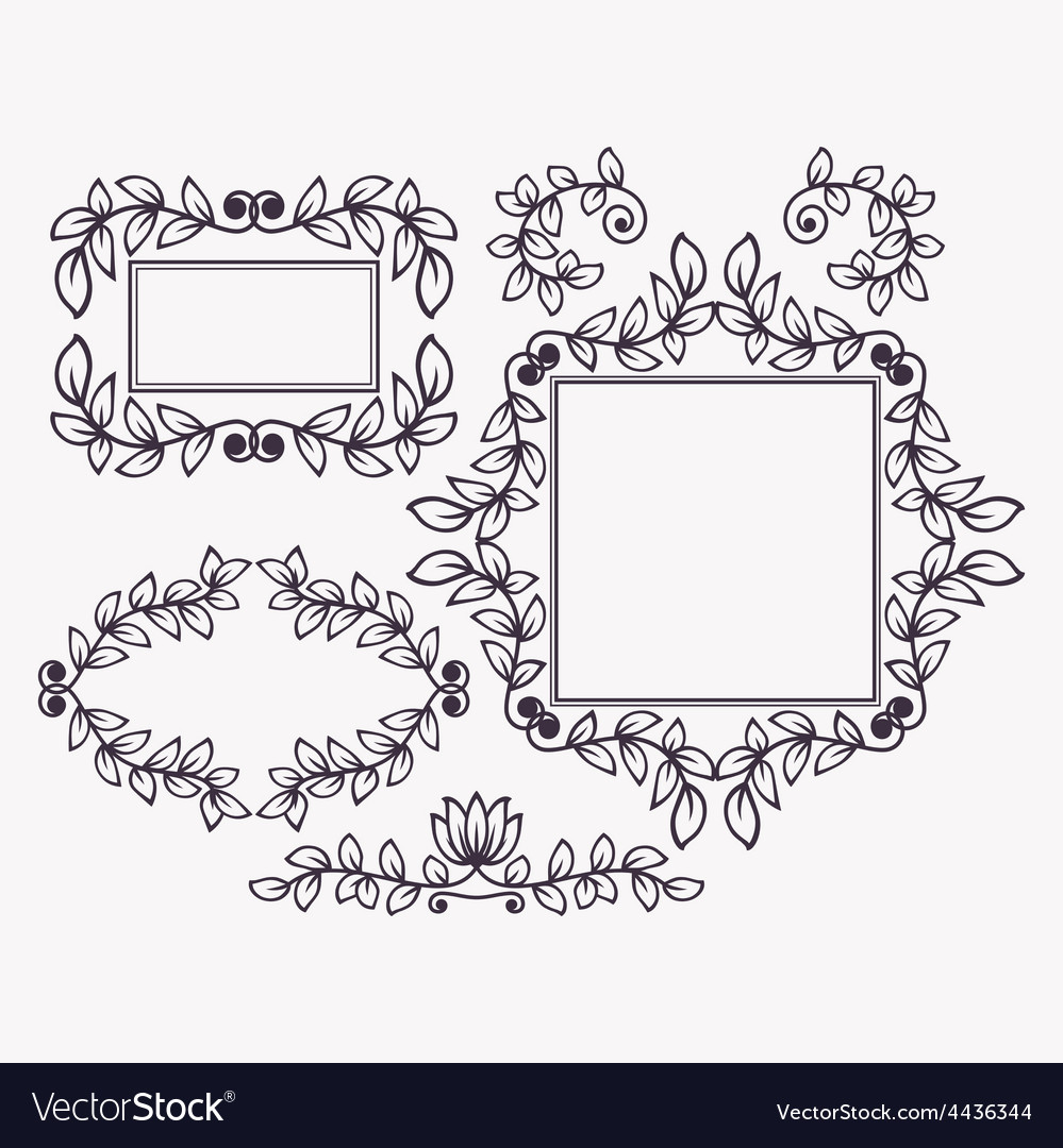 Set of frames and borders