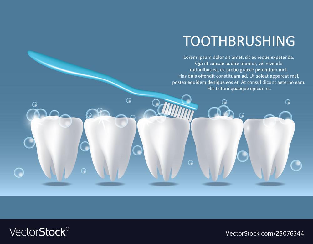 Toothbrushing medical poster banner design