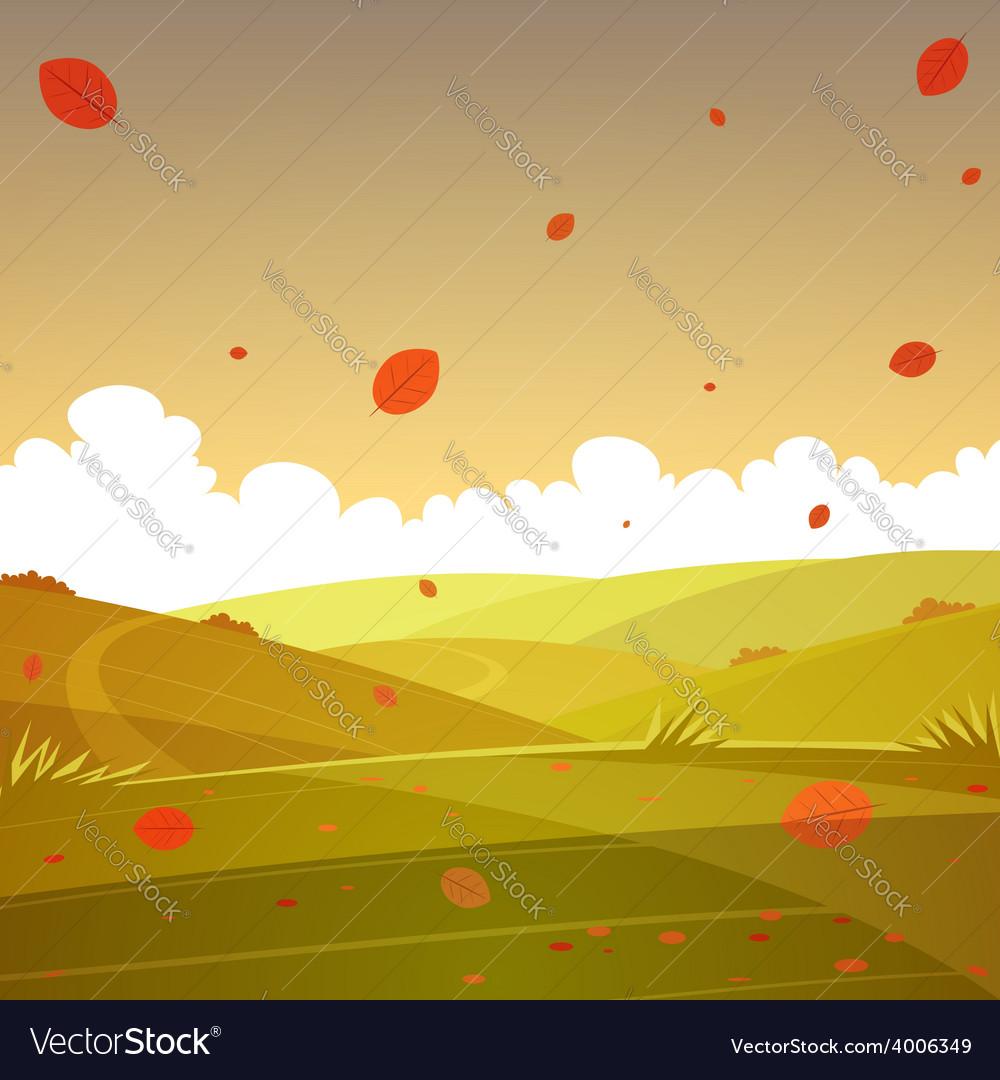 Autumn cartoon landscape
