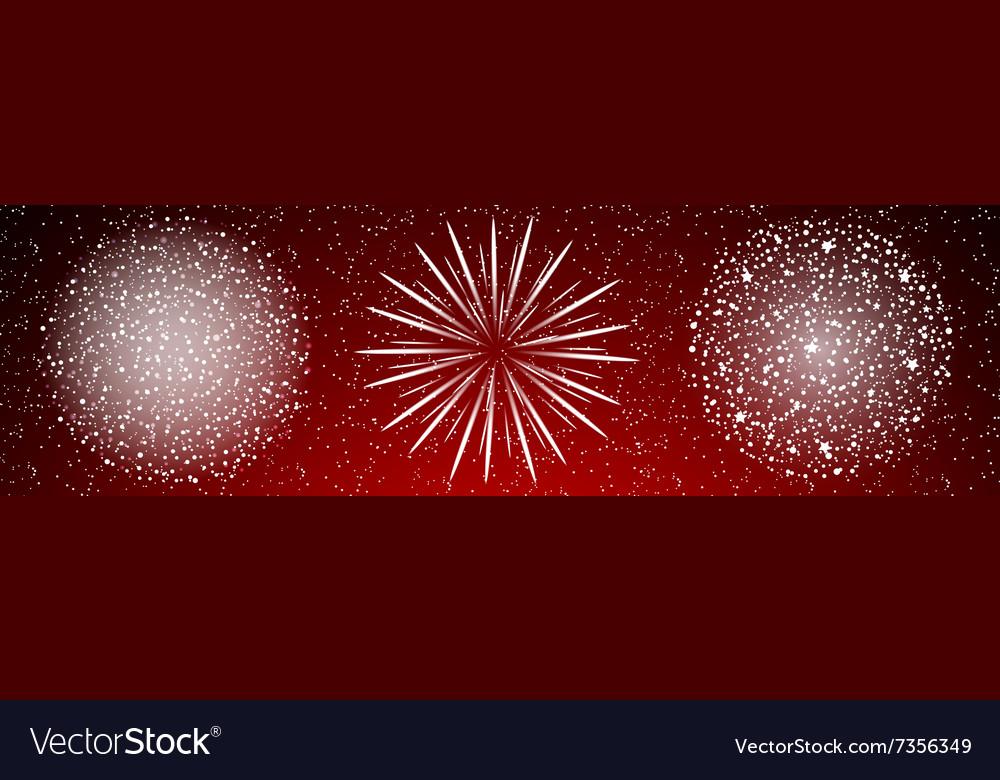 Shiny firework background