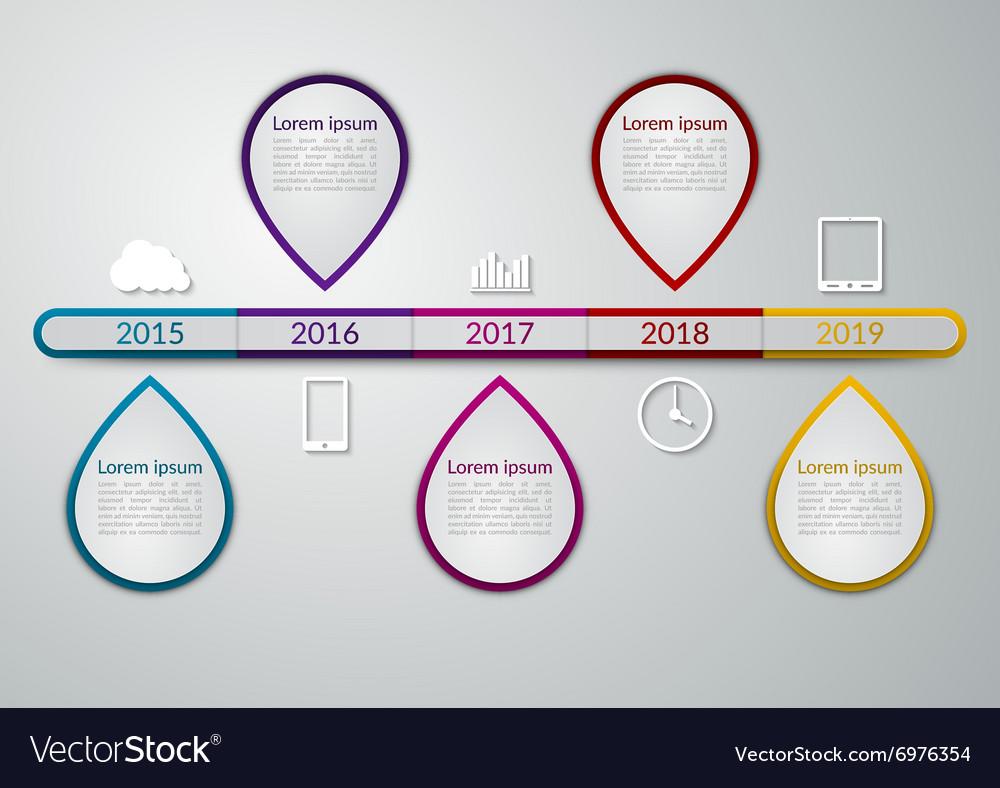 A timeline infographics