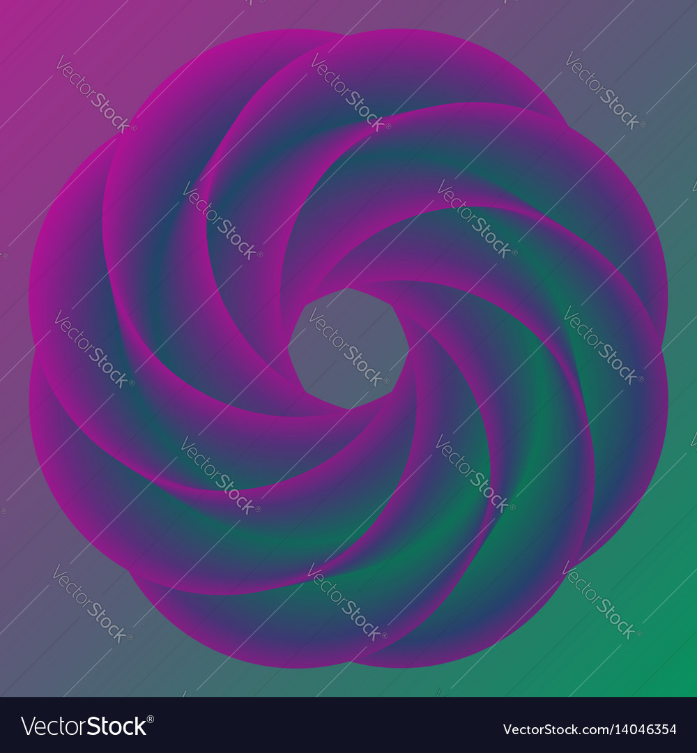 Abstract donut colorful rainbow background