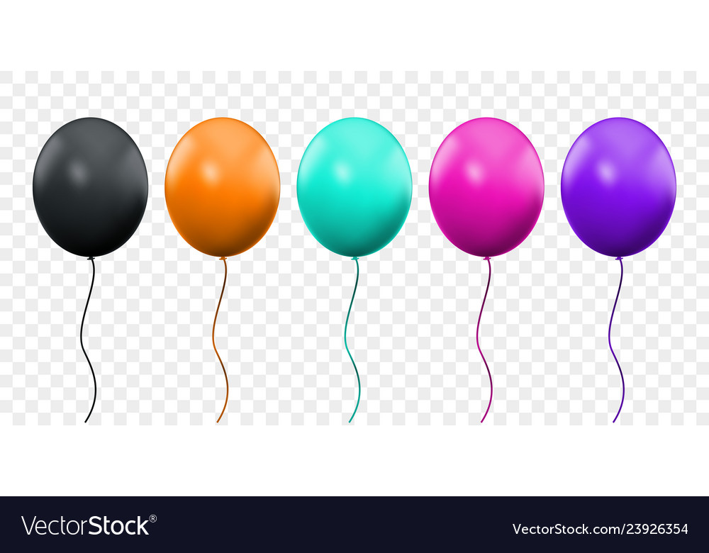 Balloon 3d realistic isolated on transparent