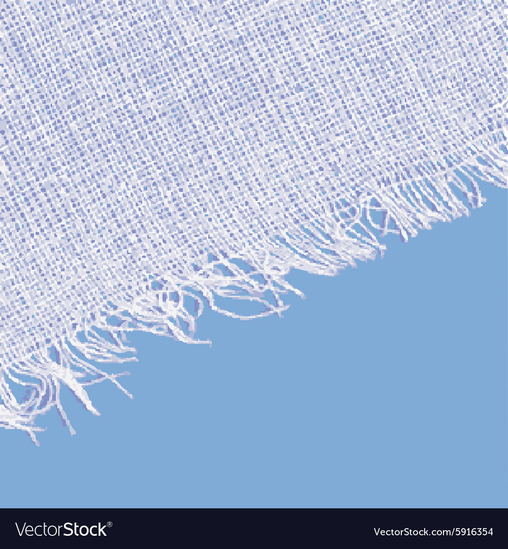 Canvas texture with fringe White blue color