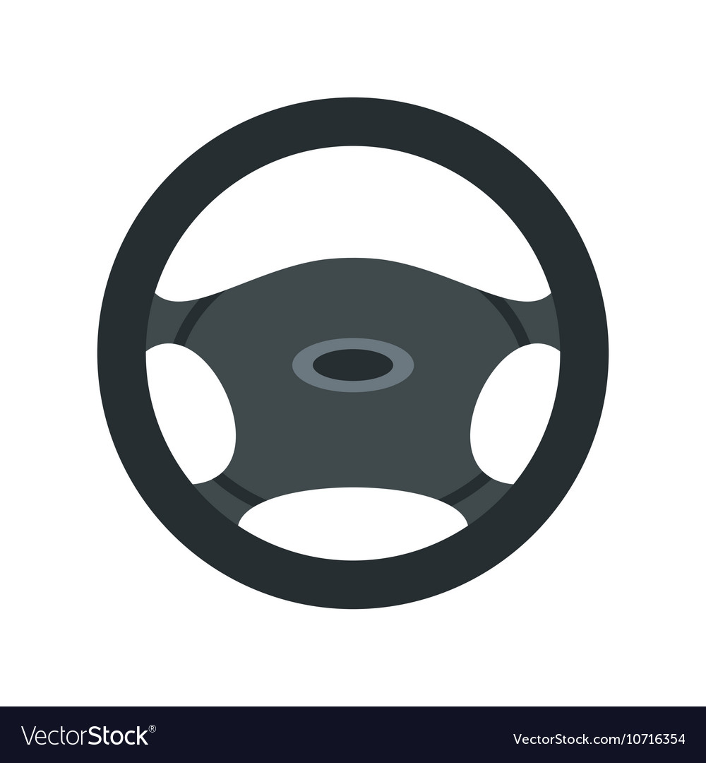 Car rudder icon flat style