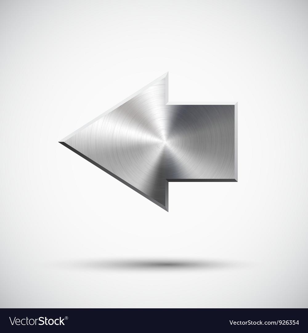 Left arrow sign vector image