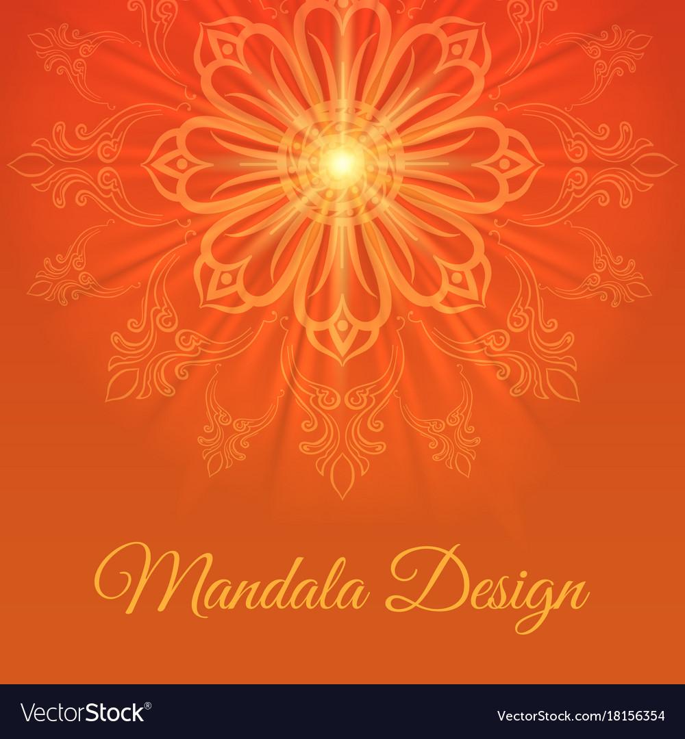 Mandala abstract background vector image