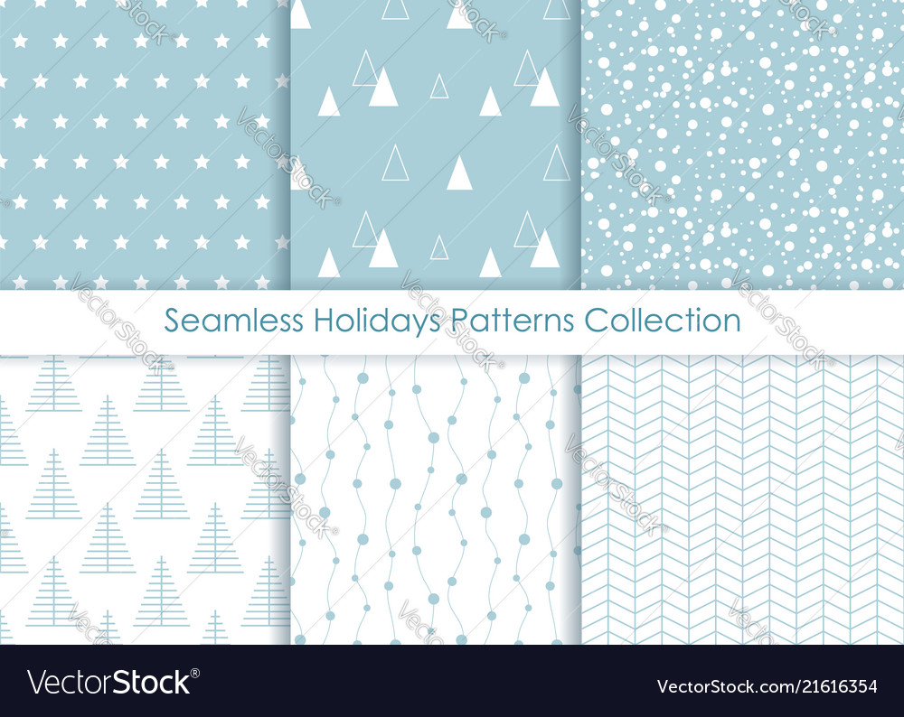 Minimalist seamless holidays prints collection