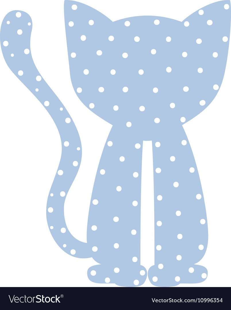 Pattern with cat domestic animal color vector image