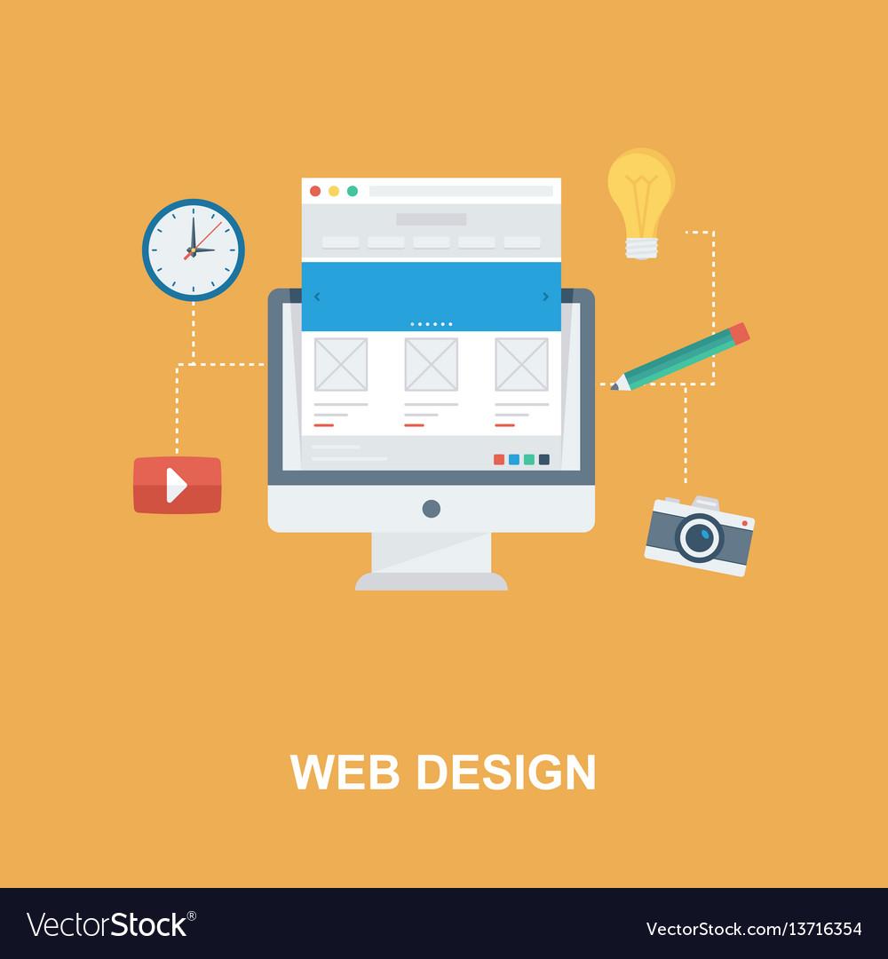 Web design concept design vector image
