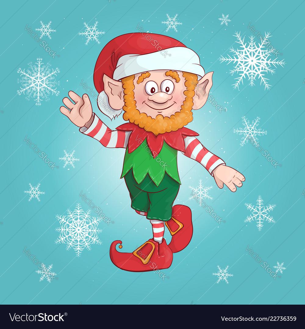Cartoon elf elf character